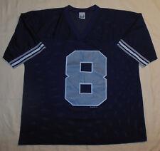 Rare Vintage 1994 NFL Dallas Cowboys #8 Aikman Blue Jersey By Competitor L Mens
