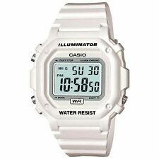 Casio Digital Chronograph Watch, White Resin, Alarm, 7 Year Battery, F108WHC-7B