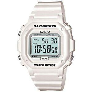 Casio F108WHC-7B, Digital Chronograph Watch, White Resin, Alarm, 7 Year Battery