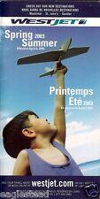 Airline Timetable - WestJet - 06/04/03  (Canada)