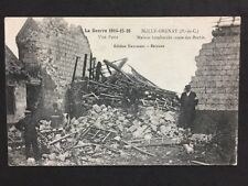 """Vintage PC: Military WW1: #M314: House Bombed """"Road Of The Sheep"""""""