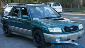 Window Visors Weathershields 4pcs weather shields for Subaru Forester 1997-2002