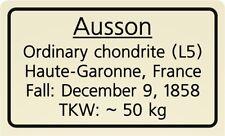 Meteorite label Ausson