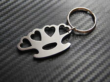 Heart Knuckle Duster Love Hate Keyring Keychain Key