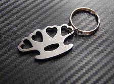 HEART KNUCKLE DUSTER Love Hate Keyring Keychain Key Bespoke Stainless Steel Gift