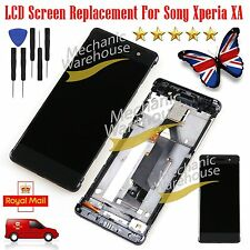 For Sony Xperia XA PP10 F3111 F3113 F3115 LCD Touch Screen Digitizer Frame Black