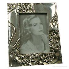 Jugendstil Art Deco Bilderrahmen Fotorahmen Rechteckig Rahmen Silber Rosen Antik
