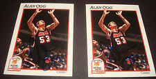 Alan Ogg (d.2009) Heat UAB 1991 NBA Hoops #388 Signed Authentic Autograph DB