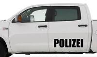 2 x Polizei Aufkleber - ca. 60 cm