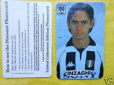 1997 phone cards 100 units filippo inzaghi schede telefoniche 1997 telefonkarten
