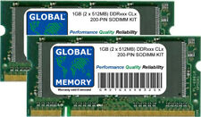 1 Go (2 X 512MB) DDR 266/333/400Mhz 200 BROCHES SODIMM