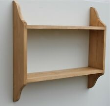 2 Tier Pine Wall Shelf Kitchen, Bedroom Shelves for books, jars, toys, ornaments