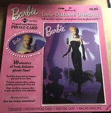 "1995 ""Barbie"" Phone Card with Hallmark Greeting Card"
