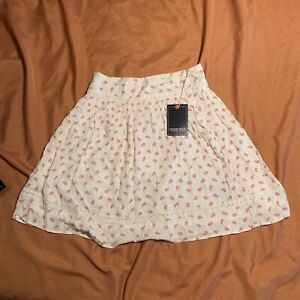 White and Pink A Line Skirt from Cherokee size Small