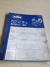 KTM 80 85 MX moteur type 490 1986 spart parts list liste pièce détachée