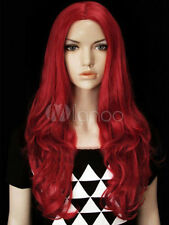 Sexy Charmant Rote Front Perücken Lang Gewellt Haar Mode Front Wig