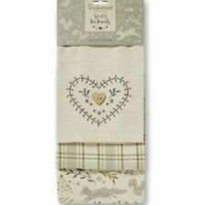 Cooksmart 3 Pack Tea Towels Professional Cotton Thick Cloths Terry Kitchen Bars