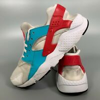 Nike Air Huarache Women's Shoes Size 5 White Blue Flats Trainers EUR 38