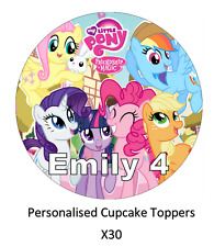 My Little Pony l'amicizia personalizzata Cupcake Topper Wafer commestibile carta