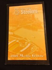 2008 PITTSBURGH STEELERS MEDIA GUIDE- ROETHLISBERGER HINES WARD HEATH POLAMALU