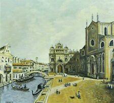 G.SCHEEL (XX) - tolles Gemälde 87: VENEDIG, ITALIEN - SCUOLA GRANDE DI SAN ROCCO