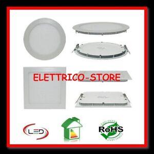 FARETTO LED PANNELLO ULTRA SLIM FARO INCASSO A MOLLA 4W 8W 15W 18W 20W WATT LED