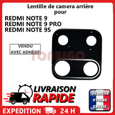 Vitre arrière caméra XIAOMI REDMI NOTE 9 PRO Lentille appareil photo Lens verre