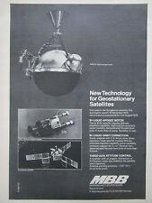 11/1975 PUB MBB GEOSTATIONNARY SATELLITE BI LIQUID APOGEE MOTOR RAKETE SPACE AD