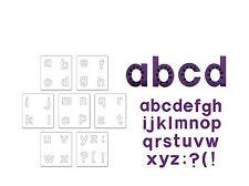 """Fustella Sizzix """"alfabeto minuscolo Block"""" A10082 - Stampa Lettere per Big Shot"""