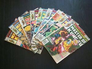 Master Of Kung Fu Lot / 9 - 50 52 55 56 57 59 63 65 72 Low Grade Marvel 1977 XPS