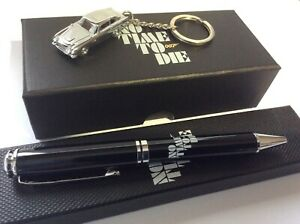 OFFICIAL NO TIME TO DIE ASTON MARTIN DB5 KEYRING & PEN JAMES BOND 007 NEW GIFT