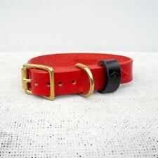 MONOGRAM BRIDLE LEATHER DOG COLLAR (OXBLOOD RED) XX Large 50cm-58cm