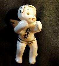 """Angel Candle Hugger VTG porcelain 2.5"""" Holiday Christmas Figures Collectible VTG"""