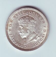 1927 Florin Parliament House Australia Sterling Silver Shows 8 Pearls L-654