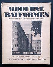 MODERNE BAUFORMEN Aug 1931 Die Wohnung unserer Zeit Mies Gropius Breuer BAUHAUS