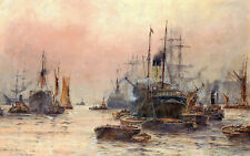 Frederick William Scarborough  The Upper Pool London   Wall Art  Canvas
