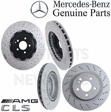 For Mercedes W219 CLS63 AMG Pair Set of 2 Front & Rear Brake Disc Rotors Kit