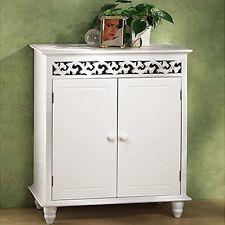 Cabinet Storage Sideboard Hallway Cupboard 2 Doors Wooden Furniture Home White