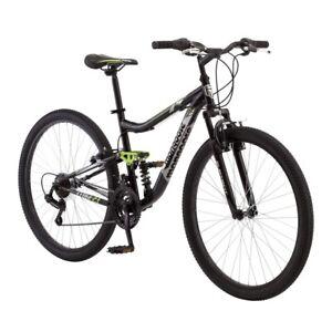 "Mongoose Ledge 2.1 Men's 27.5"" Mountain Bike New Bicycle Trail 21 Speed Black"