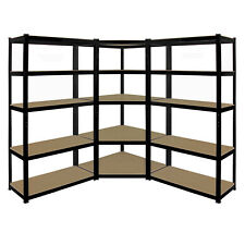 5 Tier Garage Shelving Storage Kit 1 x Boltless Corner Shelf & 2 x Straight Kits