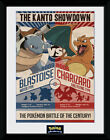 Pokemon Red Vs Blue - Mounted & Framed Print