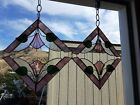 Set+of+4+Tiffany+Style+Stained+Glass+Corner+Window+Panels+8%22