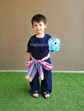 OTOP kids Indigo Unisex Short Sleeve and pants Blue Denim cotton