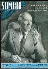 SIPARIO N. 86 GIUGNO 1953 RIVISTA CINEMA TEATRO F. CROMMELYNK A. SALACROU