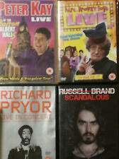 PETER KAY,MRS BROWN,RICHARD PRIOR,RUSSELL BRAND DVDS X 4