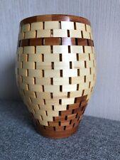 Dekovase, Vase aus Holz gedrechselt, Segmentvase handgemacht, Designvase