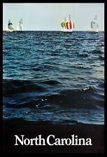 Carolina del Norte 1970s Jolly Boat Race Croatan Sonido viajar Cartel
