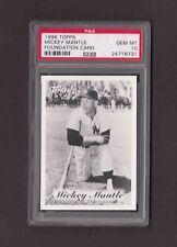 1996 Topps MICKEY MANTLE Foundation Card Yankees PSA 10 GEM MINT Pop 17