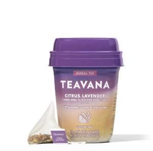 Starbucks TEAVANA Citrus Lavender Herbal TEA 15 Sachets Caffeine Free NIB