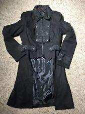 Gothic Steam Punk Women's Pentagramme Black Coat Corset Lace Sz Large